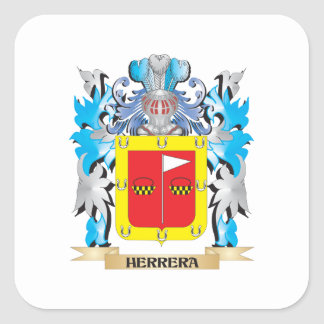 Herrera Coat of Arms - Family Crest Square Stickers