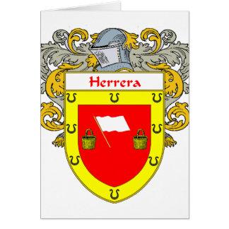 Herrera Coat of Arms (Mantled) Card