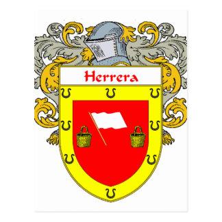 Herrera Coat of Arms (Mantled) Postcard