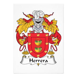Herrera Family Crest Personalized Announcement