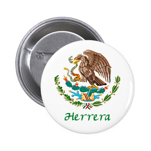 Herrera Mexican National Seal 2 Inch Round Button