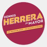 Herrera para alcalde Sticker Etiqueta Redonda