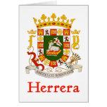 Herrera Shield of Puerto Rico Greeting Card