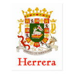 Herrera Shield of Puerto Rico Postcard