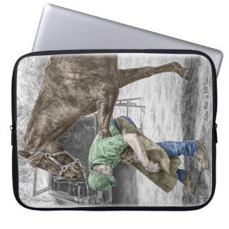 Herrero del herrador que calza el caballo fundas computadoras