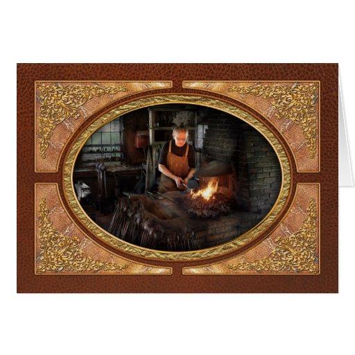 Herrero - los herreros tienen gusto de él caliente tarjeta de felicitación