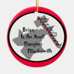 Herrero personalizado ornamentos de navidad