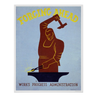 Herrero WPA que forja 1940 Poster