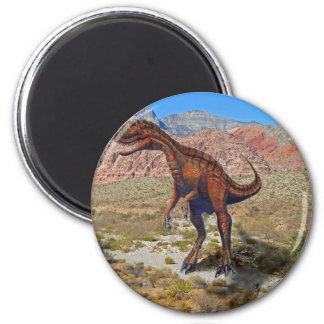 Herrersarus Dinosaur 2 Inch Round Magnet