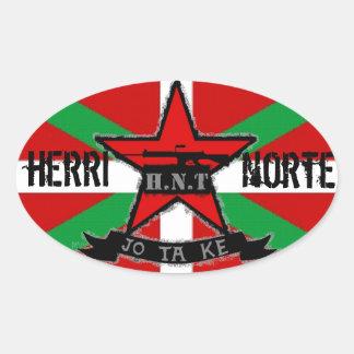 HERRI NORTE TALDEA OVAL STICKER