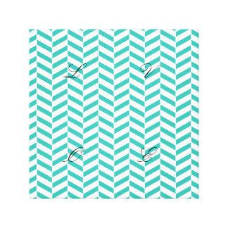 Herrinbone pattern,green,white,chic,elegant,trendy canvas print