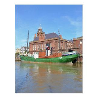 Herring Boat Lydia Eva Postcard