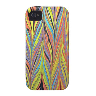 Herring Bone Water Marbling Case For The iPhone 4
