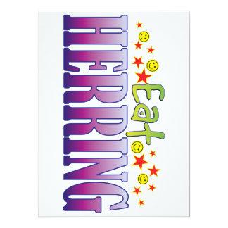 Herring Eat 5.5x7.5 Paper Invitation Card