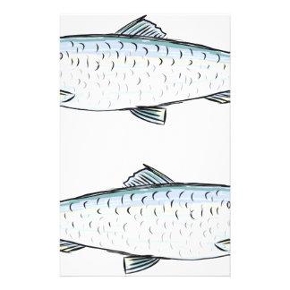 Herring Fish Sketch Stationery