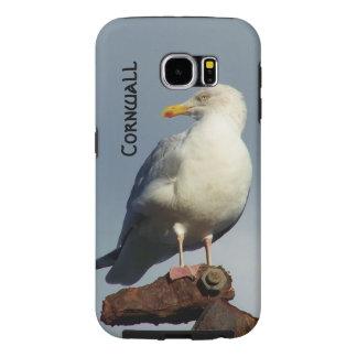 Herring Gull Charlestown Harbour Cornwall England Samsung Galaxy S6 Case