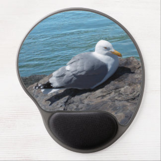 Herring Gull on Rock Jetty Gel Mouse Pad