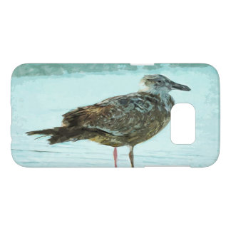 Herring Gull on the Beach Abstract Samsung Galaxy S7 Case