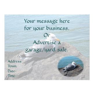 Herring Gull Resting on Rock Jetty: Full Color Flyer