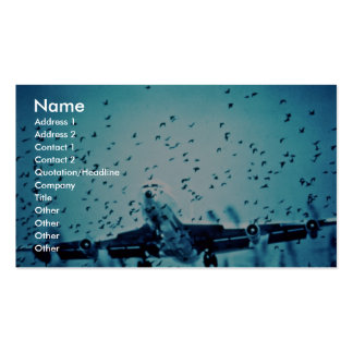 Herring Gulls in Jet Path Double-Sided Standard Business Cards (Pack Of 100)