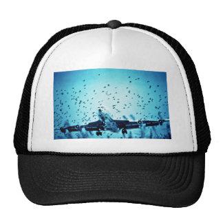 Herring Gulls in Jet Path Mesh Hat