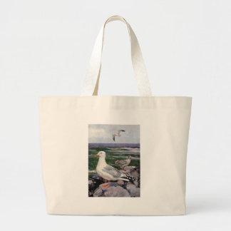 Herring Gulls on Rocky Shoreline Bags