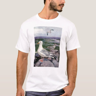 Herring Gulls on Rocky Shoreline T-Shirt