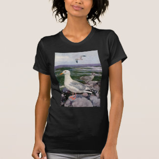 Herring Gulls on Rocky Shoreline T-shirts