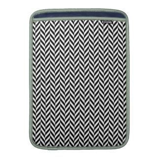 HERRINGBONE (a black & white design) ~ MacBook Air Sleeve