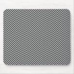 HERRINGBONE (a black & white design) ~ Mouse Pad