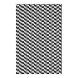 HERRINGBONE (a black & white design) ~ Stationery