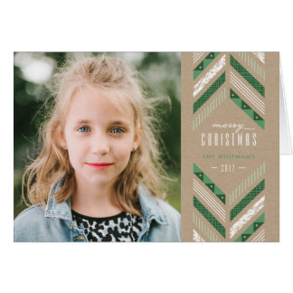 Herringbone Band Holiday Card - Clover