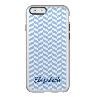 Herringbone Blue White Beach Colors Custom Incipio Feather Shine iPhone 6 Case