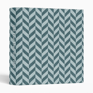 Herringbone Chevrons Pattern in Shades of Blue Binder