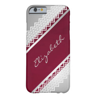Herringbone Lace Personalized Barely There iPhone 6 Case