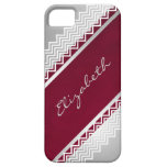 Herringbone Lace Personalized iPhone 5 Cover