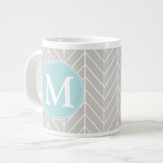 Herringbone Monogram Jumbo Mug