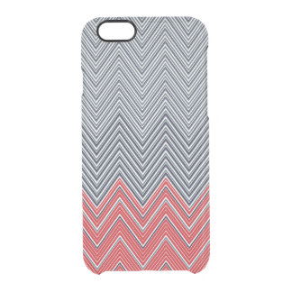 Herringbone Nautical Uncommon Clearly™ Deflector iPhone 6 Case