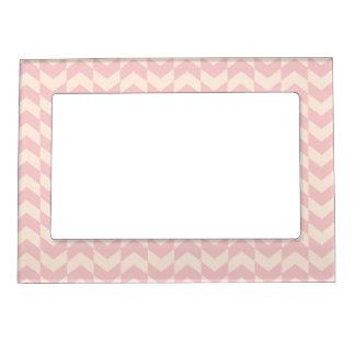 Herringbone Pattern Blush Pink Magnetic Frame