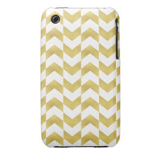 Herringbone Pattern Gold White iPhone 3G 3Gs Case Apple Iphone3 Case