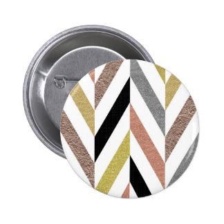 Herringbone Pattern Pinback Button