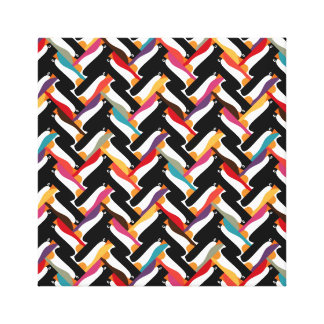 herringbone penguin canvas prints