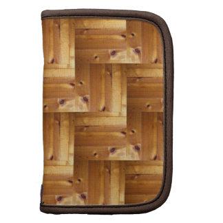Herringbone Pine Wood Pattern Folio Planners
