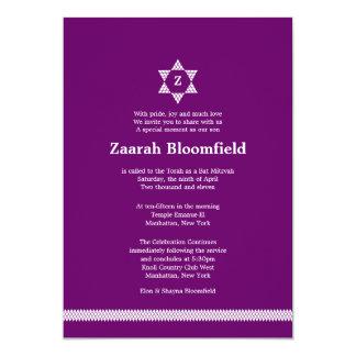 Herringbone Star Bat Mitzvah Invitation