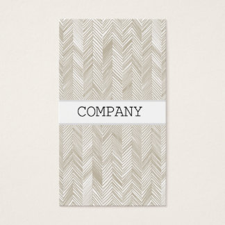 Herringbone stripe business card