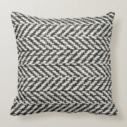 Herringbone Tweed Rustic Black Amp White Knit Print Throw
