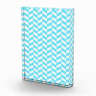 Herringbone White Bright Blue Summer Mod Pattern Award
