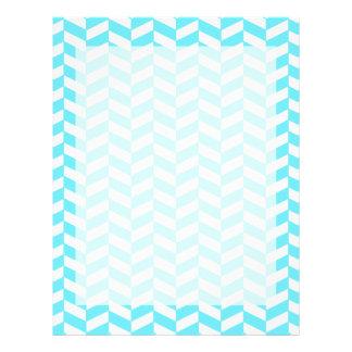 Herringbone White Bright Blue Summer Mod Pattern Letterhead