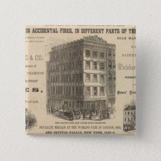Herring's Patent Champion Safes Pinback Button