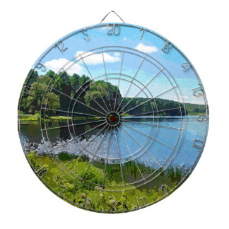 """Herrington Lake"" Dartboard"